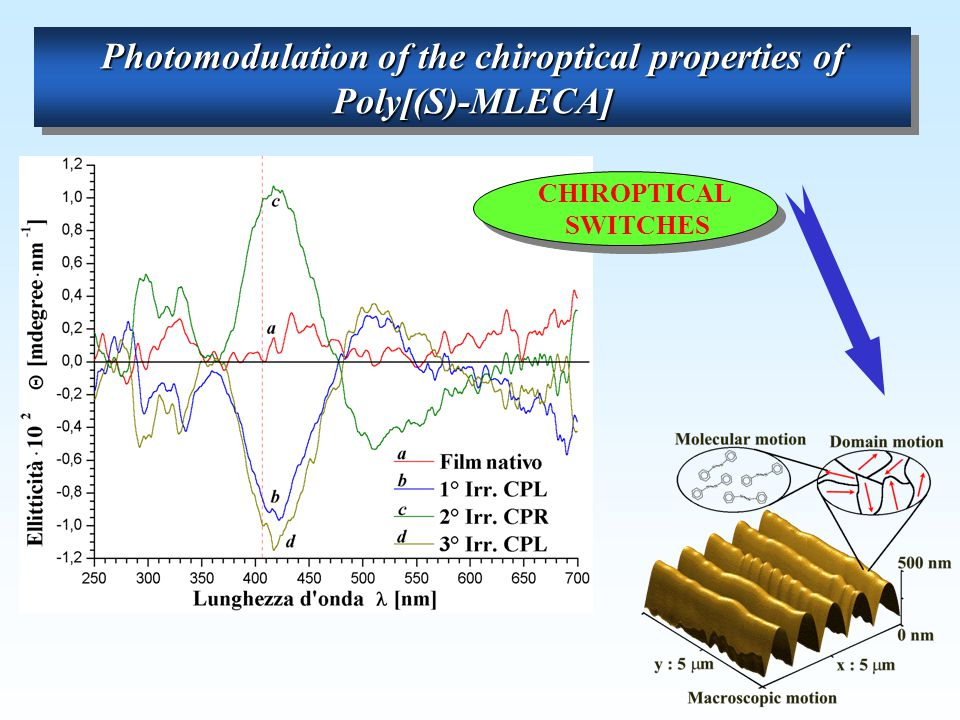 Photomodulation of the chiroptical properties of Poly[(S)-MLECA]